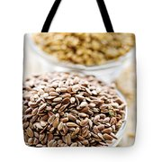 Brown And Golden Flax Seed Tote Bag