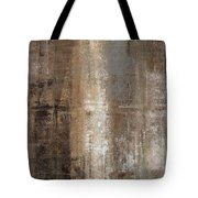 Slender - Grey And Brown Abstract Art Painting Tote Bag