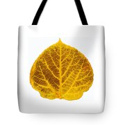 Brown And Yellow Aspen Leaf 2 Tote Bag