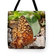 Brown Butterfly Tote Bag