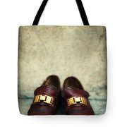 Brown Children Shoes Tote Bag