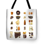 Brown China And Amber Sea Glass Tote Bag by Jennifer Booher