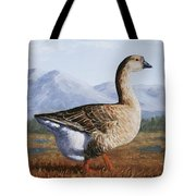 Brown Chinese Goose Tote Bag by Crista Forest