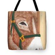 Brown Donkey On Cedar Tote Bag