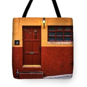 Brown Door In Mexico Tote Bag