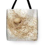 Brown Egg In Bird Nest Sepia Tote Bag