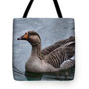 Brown Feathered Goose Tote Bag