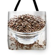 Brown Flax Seed Tote Bag