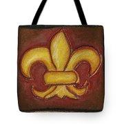 Brown Fleur De Lis Tote Bag