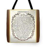 Brown Frame Color Wreath Desiderata Poem Tote Bag