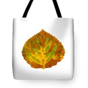 Brown Green And Yellow Aspen Leaf 3 Tote Bag
