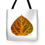 Brown Green Orange And Red Aspen Leaf 1 Tote Bag