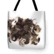 Brown Hair White Background Tote Bag