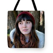 Brown Haired And Freckle Faced Natural Beauty Model  Xvii  Tote Bag