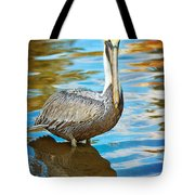 Brown Pelican Along The Bayou Tote Bag
