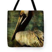Brown Pelican Beauty Tote Bag