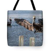 Brown Pelican Touchdown Tote Bag