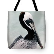 Brown Pelican Tote Bag
