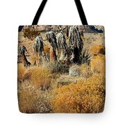 Brown Ridge Line Tote Bag