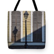 Brown Shutter Doors And Street Lamp - New Orleans Tote Bag