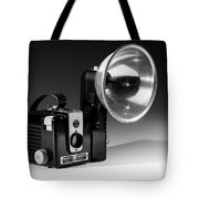 Brownie Hawkeye Black And White Tote Bag