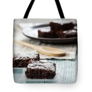 Brownies With A Wood Spoon Kitchen Art Tote Bag