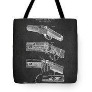 Browning Rifle Patent Drawing From 1921 - Dark Tote Bag