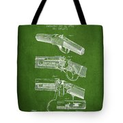 Browning Rifle Patent Drawing From 1921 - Green Tote Bag