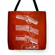Browning Rifle Patent Drawing From 1921 - Red Tote Bag