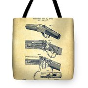 Browning Rifle Patent Drawing From 1921 - Vintage Tote Bag