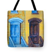 Brownstone Mural Art Tote Bag