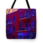Brownstones In Winter 6 Tote Bag