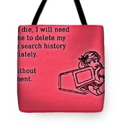 Browser Search History Tote Bag