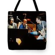 Bruce Springsteen Billy Joel And Paul Schaffer Tote Bag