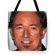 Bruce Springsteen Portrait Tote Bag