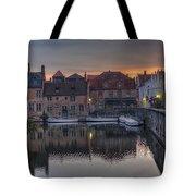 Bruges Canal Dawn Tote Bag