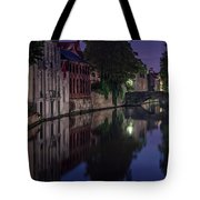 Bruges Canal Near Blind Donkey Alley  Tote Bag