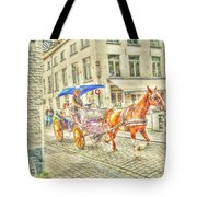 Brugge Horse And Buggy Tote Bag