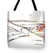 Brush And Paste Tote Bag