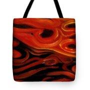 Brush Strokes In Red Tote Bag