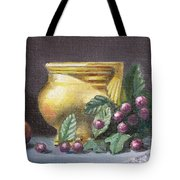 Brushed Gold Vase Tote Bag