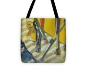 Brushes And Paints For Artists Palette Tote Bag