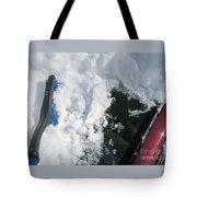 Brushing Winter Away Tote Bag