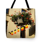 Brussels Belgium - Flowers Flags Football Tote Bag