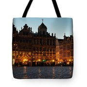 Brussels - Grand Place Facades Golden Glow Tote Bag