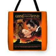 Brussels Griffon Art - Gone With The Wind Movie Poster Tote Bag