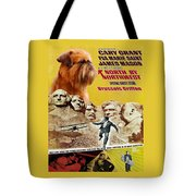 Brussels Griffon Art - North By Northwest Movie Poster Tote Bag