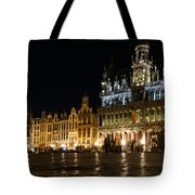 Brussels - The Magnificent Grand Place At Night Tote Bag