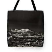 Bryce Canyon Formations In Black And White Tote Bag