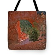 Bryce Canyon Natural Bridge And Tree Tote Bag